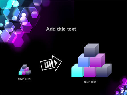 Hexagonal Bokeh PowerPoint Template Slide 13