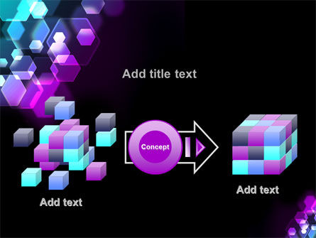 Hexagonal Bokeh PowerPoint Template Slide 17