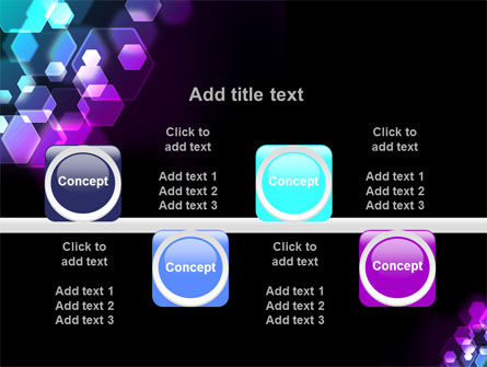Hexagonal Bokeh PowerPoint Template Slide 18