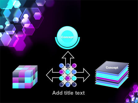 Hexagonal Bokeh PowerPoint Template Slide 19