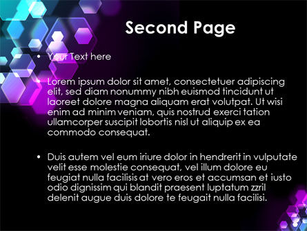 Hexagonal Bokeh PowerPoint Template Slide 2