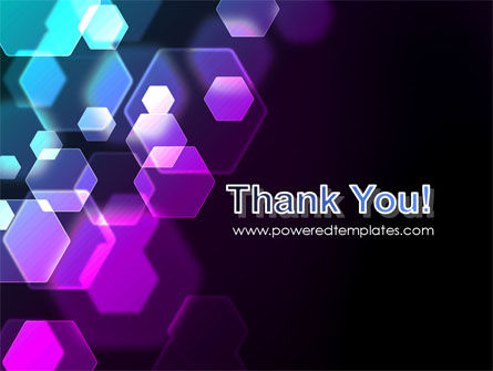 Hexagonal Bokeh PowerPoint Template Slide 20