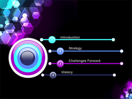 Hexagonal Bokeh PowerPoint Template Slide 3