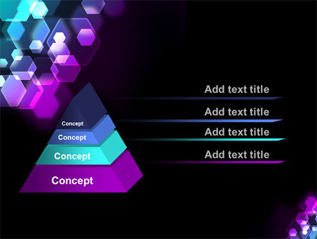Hexagonal Bokeh PowerPoint Template Slide 4