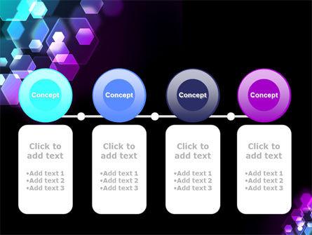 Hexagonal Bokeh PowerPoint Template Slide 5
