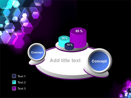 Hexagonal Bokeh PowerPoint Template Slide 6