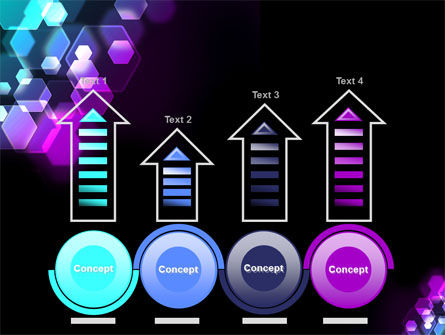 Hexagonal Bokeh PowerPoint Template Slide 7