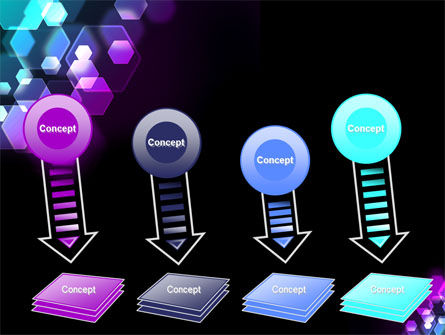 Hexagonal Bokeh PowerPoint Template Slide 8