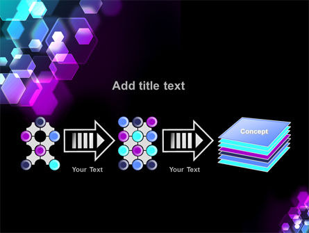 Hexagonal Bokeh PowerPoint Template Slide 9