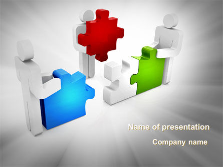 Completing The Puzzle PowerPoint Template, 09452, Consulting — PoweredTemplate.com