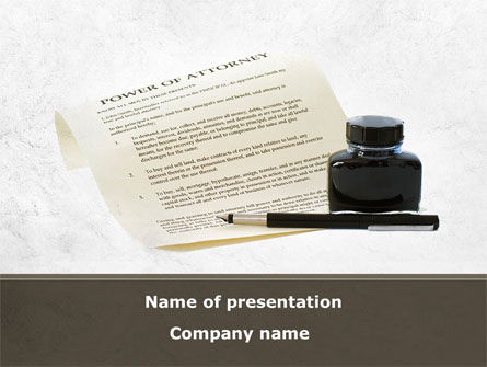 Power Of Attorney PowerPoint Template, 09453, Legal — PoweredTemplate.com