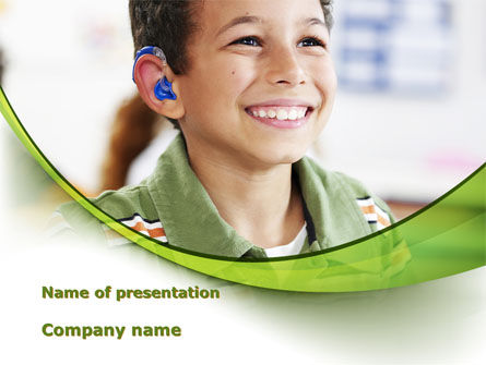 Hearing Aid PowerPoint Template, 09454, Education & Training — PoweredTemplate.com