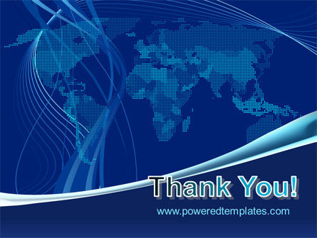 Map Of Earth In Blue PowerPoint Template Slide 20