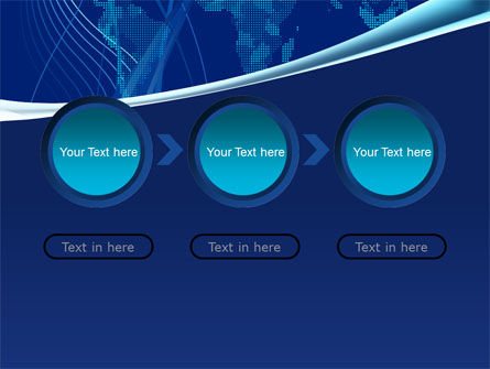 Map Of Earth In Blue PowerPoint Template Slide 5