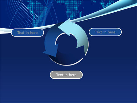 Map Of Earth In Blue PowerPoint Template Slide 9