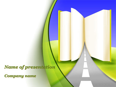Road to Knowledge Country PowerPoint Template, 09458, Education & Training — PoweredTemplate.com