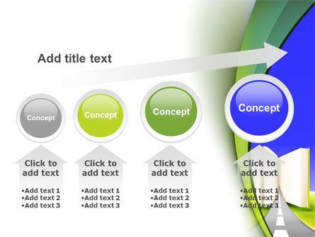 Road to Knowledge Country PowerPoint Template Slide 13