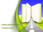 Education & Training: Road to Knowledge Country PowerPoint Template #09458