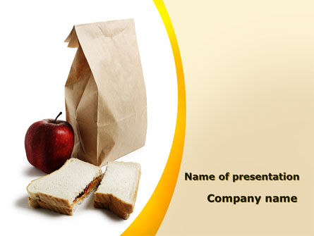 Food & Beverage: Bag Of Food PowerPoint Template #09459