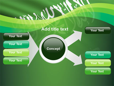 The Green Banner Of The Prophet Muhammad PowerPoint Template Slide 15