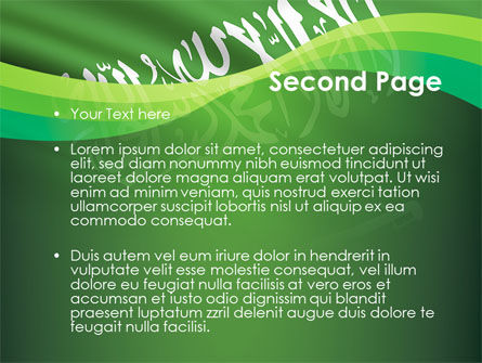 The Green Banner Of The Prophet Muhammad PowerPoint Template Slide 2