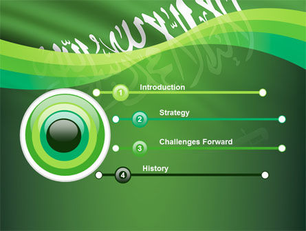 The Green Banner Of The Prophet Muhammad PowerPoint Template, Slide 3, 09461, Flags/International — PoweredTemplate.com