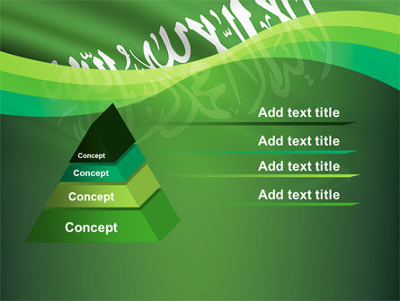 The Green Banner Of The Prophet Muhammad PowerPoint Template, Slide 4, 09461, Flags/International — PoweredTemplate.com