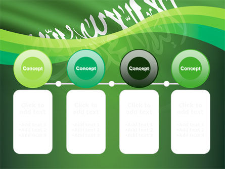 The Green Banner Of The Prophet Muhammad PowerPoint Template Slide 5