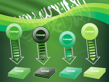 The Green Banner Of The Prophet Muhammad PowerPoint Template Slide 8