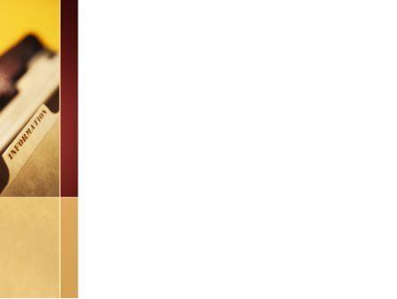Folder With Info PowerPoint Template, Slide 3, 09464, Business — PoweredTemplate.com