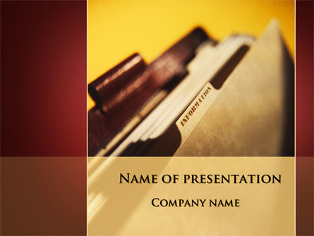 Business: Folder With Info PowerPoint Template #09464