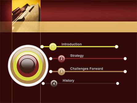Folder With Info PowerPoint Template Slide 3