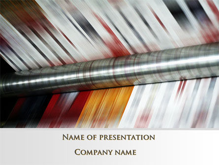 Careers/Industry: Printing House PowerPoint Template #09465