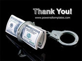 Arrested Criminal Money PowerPoint Template#20