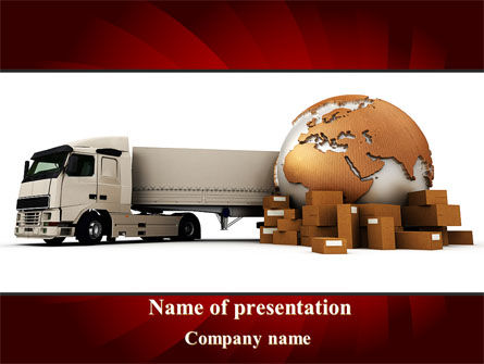 Cars and Transportation: Cargo Delivery Service PowerPoint Template #09469