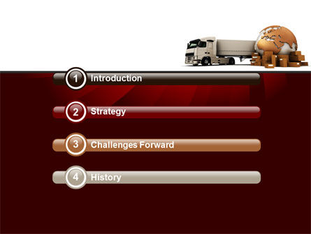 Cargo Delivery Service PowerPoint Template, Slide 3, 09469, Cars and Transportation — PoweredTemplate.com