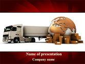 Cars and Transportation: Modèle PowerPoint de service de livraison de marchandises #09469