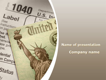 Individual Income Taxes Return PowerPoint Template, 09470, Legal — PoweredTemplate.com