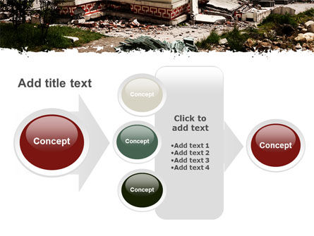 Destroyed Buildings PowerPoint Template Slide 17