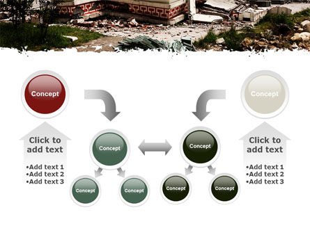Destroyed Buildings PowerPoint Template Slide 19