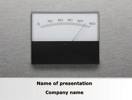 Careers/Industry: Analog Meter PowerPoint Template #09475