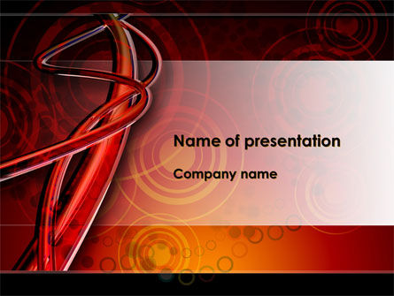Red Abstract Tube PowerPoint Template, 09476, Abstract/Textures — PoweredTemplate.com