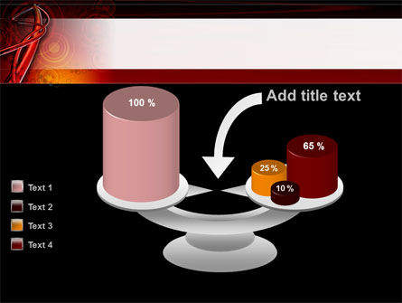 Red Abstract Tube PowerPoint Template Slide 10