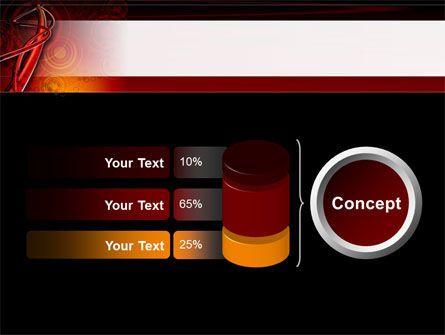 Red Abstract Tube PowerPoint Template Slide 11