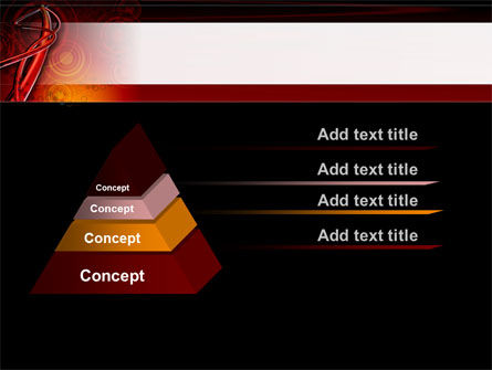 Red Abstract Tube PowerPoint Template Slide 12