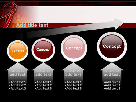 Red Abstract Tube PowerPoint Template Slide 13