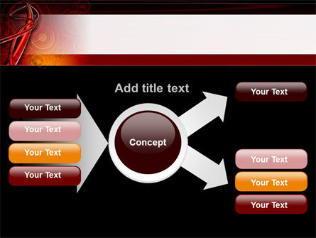 Red Abstract Tube PowerPoint Template Slide 14