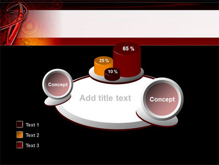 Red Abstract Tube PowerPoint Template Slide 16