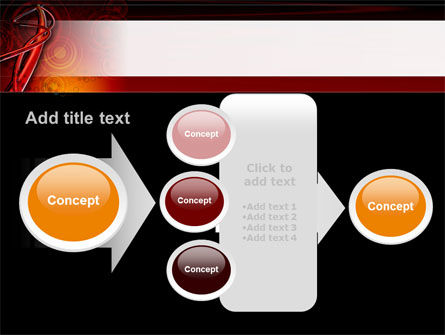 Red Abstract Tube PowerPoint Template Slide 17