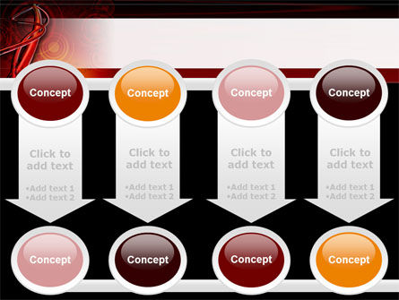 Red Abstract Tube PowerPoint Template Slide 18